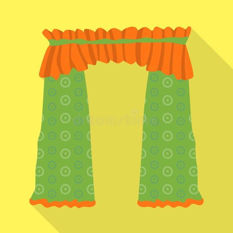 O projeto do vetor de drapejam e o logotipo da cornija Ajuste de drapeja e a ilustra??o conservada em estoque do vetor do cosines ilustração do vetor