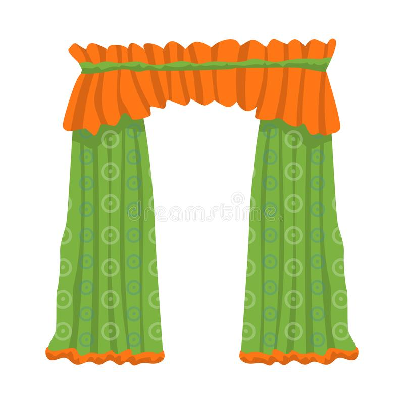 O projeto do vetor de drapejam e o símbolo da cornija A coleção de drapejam e o ícone do vetor do cosiness para o estoque ilustração do vetor