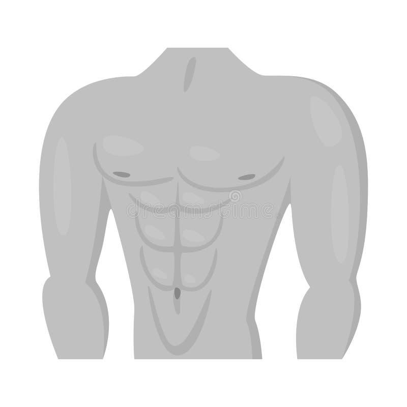 O projeto do vetor do músculo e as pilhas assinam Ajuste do músculo e do ícone do vetor da anatomia para o estoque ilustração royalty free