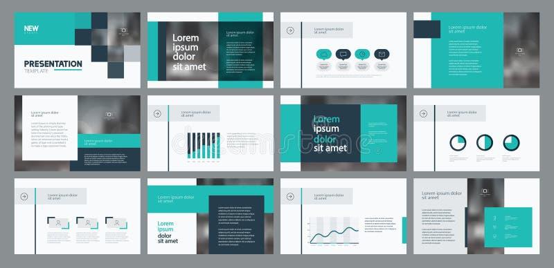 O projeto e a disposição de página do molde da apresentação do negócio projetam para o folheto, o informe anual e o perfil da emp ilustração stock