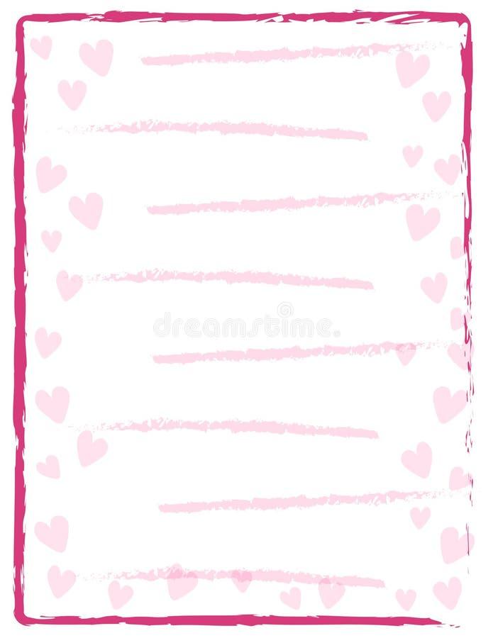 O projeto feliz da ilustração do dia de são valentim com coração e seja o meu citações imagens de stock royalty free