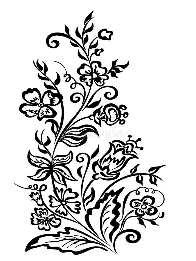 O projeto floresce o ramalhete floral decorativo ilustração royalty free