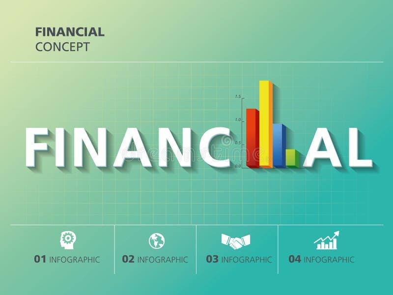 O projeto gráfico da informação, financeiro, faz um mapa de gráficos ilustração do vetor