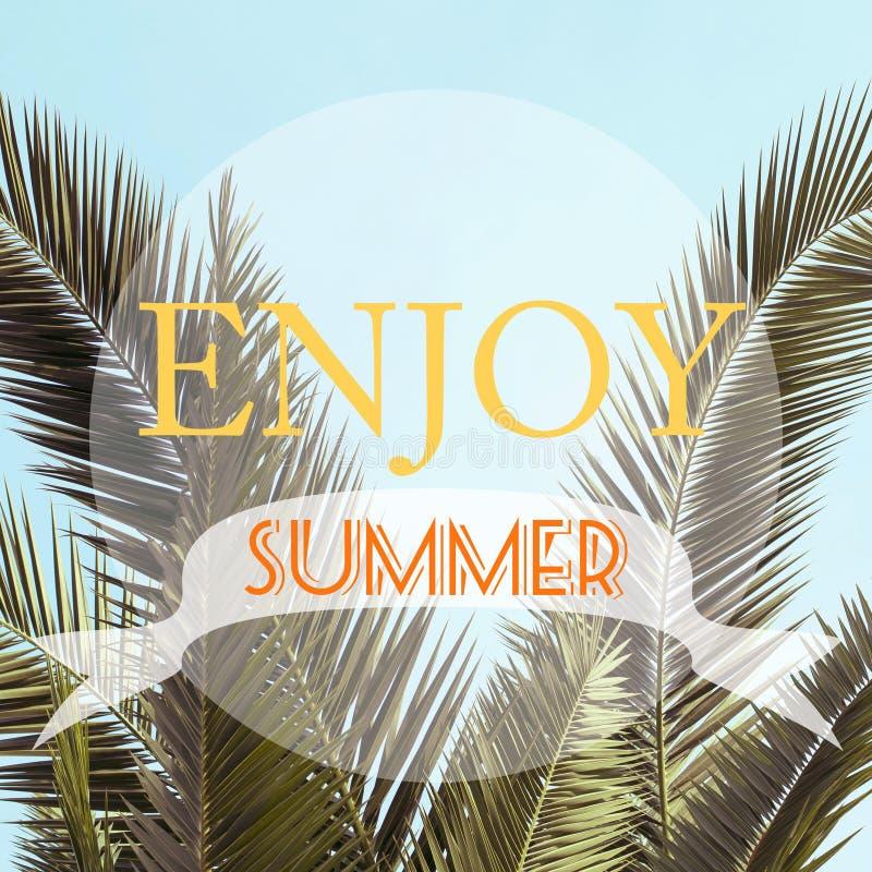 O projeto inspirado do cartaz do fundo/aprecia o verão ilustração stock