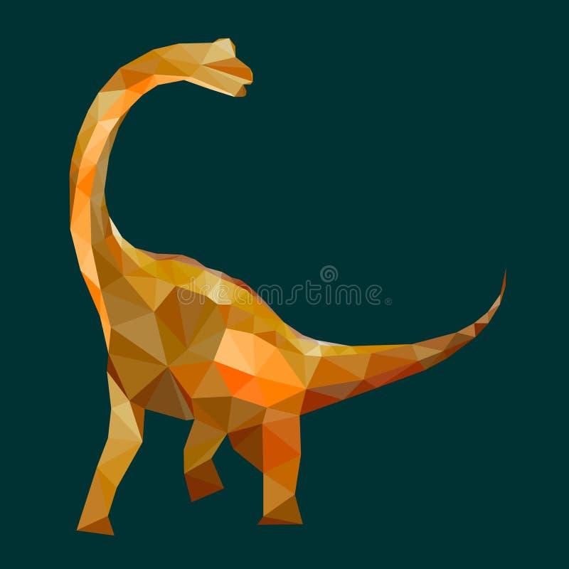 O projeto poligonal do dinossauro, projeto ilustração royalty free