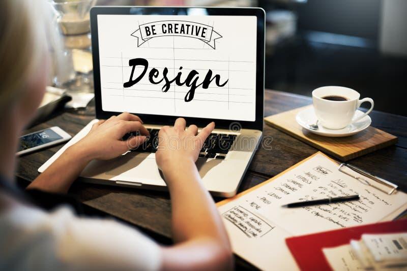 O projeto seja Art Graphic Concept criativo fotos de stock royalty free