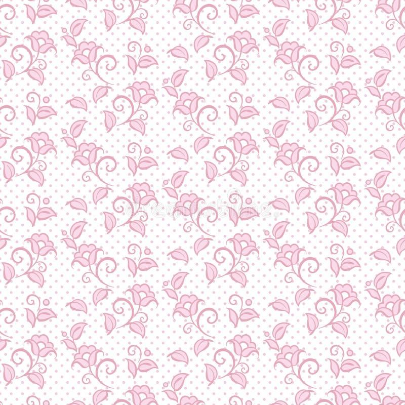 O projeto sem emenda do fundo do ornamento floral do teste padrão para a tela no rosa pastel macio colore a ilustração do vetor ilustração do vetor