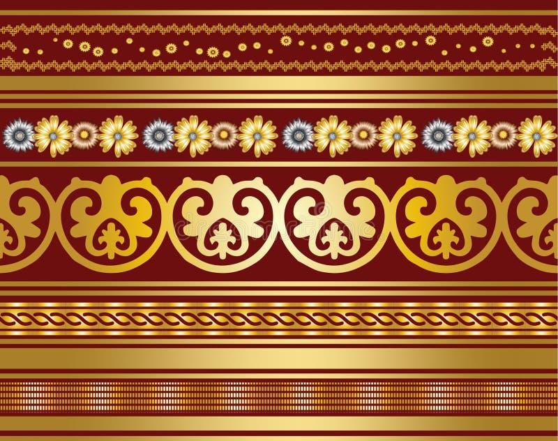 O projeto sem emenda do teste padrão de matéria têxtil para a mulher veste ilustração royalty free