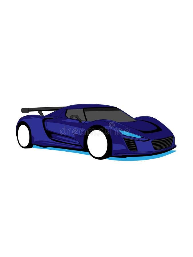 O projeto super fresco do carro ilustração stock
