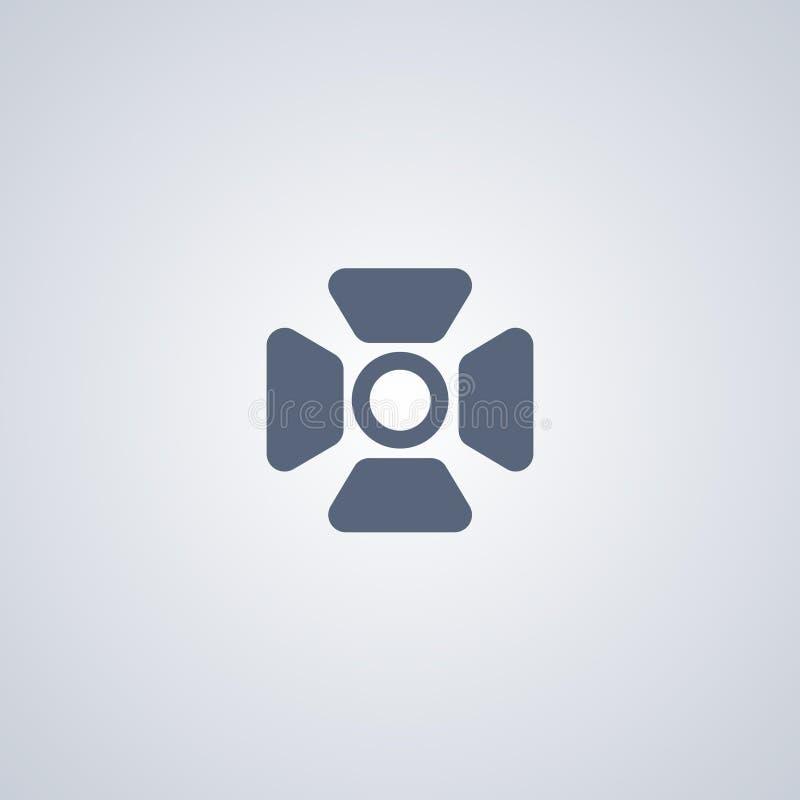O projetor, luz, vector o melhor ícone liso ilustração stock