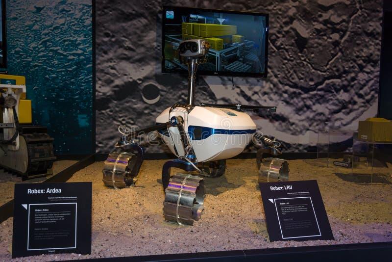 O protótipo do vagabundo Robex da lua LRU fotografia de stock royalty free