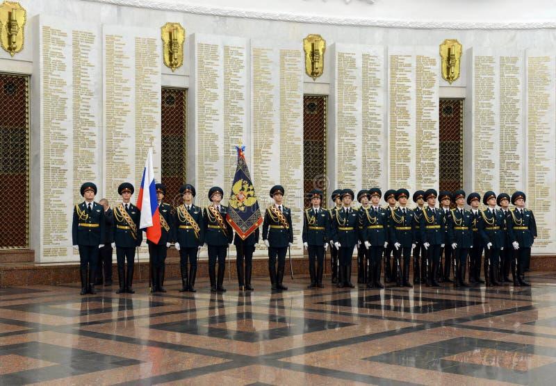O protetor de honra de tropas do ministério interior de Rússia As formações militares especiais são projetadas assegurar a segura fotos de stock royalty free