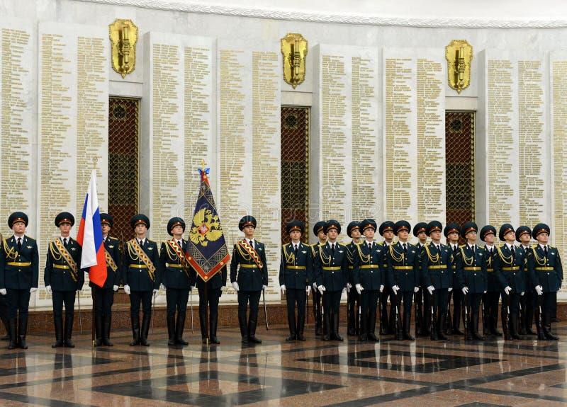 O protetor de honra de tropas do ministério interior de Rússia As formações militares especiais são projetadas assegurar a segura imagem de stock