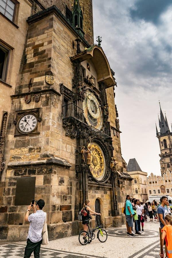 O pulso de disparo astron?mico de Praga, ou orloj de Praga fotografia de stock royalty free
