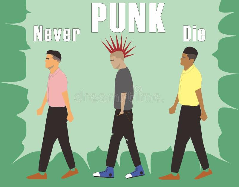 O punk nunca morre ilustração do vetor