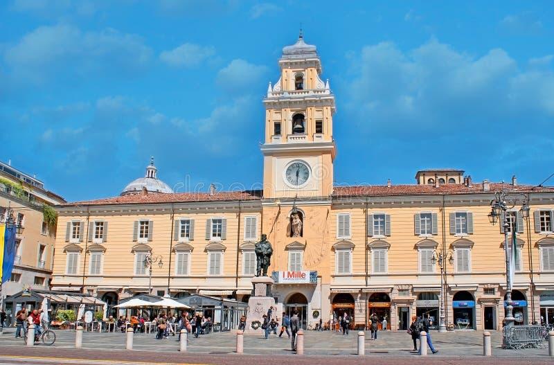 O quadrado central de Parma fotografia de stock royalty free
