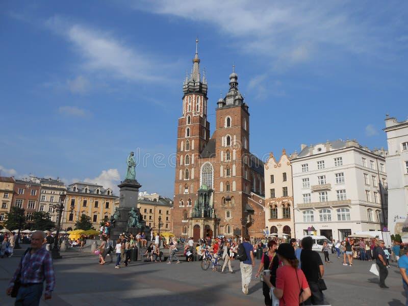 O quadrado central em krakow fotos de stock royalty free