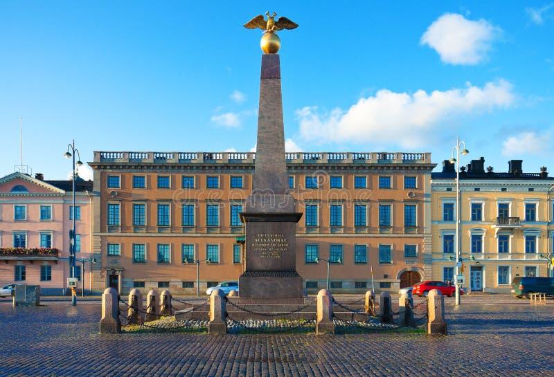 O quadrado do mercado em Helsínquia, Finlandia foto de stock royalty free