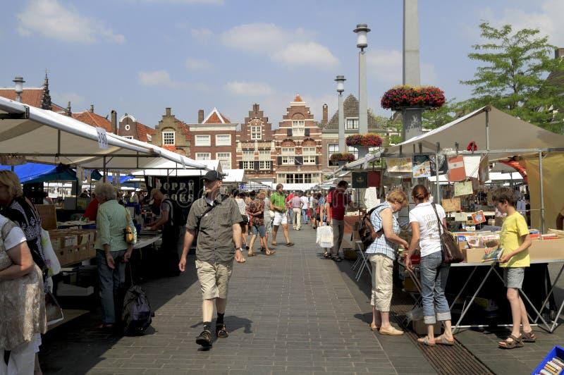 O quadrado do mercado no dordrecht foto de stock royalty free