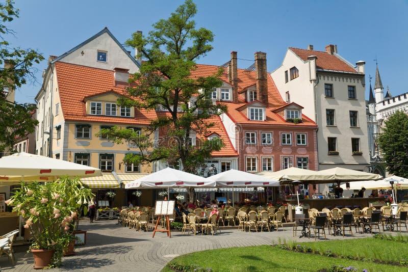 O quadrado em Riga fotografia de stock royalty free
