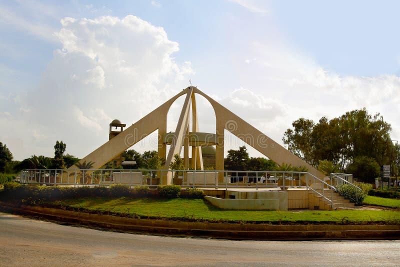 O quadrado na cidade de Dodoma (Tanzânia) foto de stock