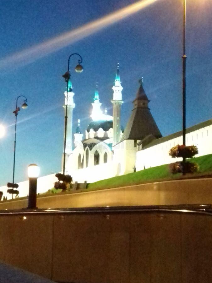 O quadrado principal do Kremlin de Kazan imagens de stock royalty free