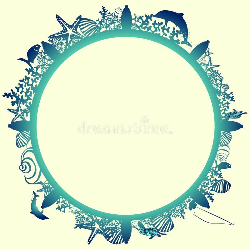 O quadro é circularmente sob a forma de um volante imagens de stock royalty free
