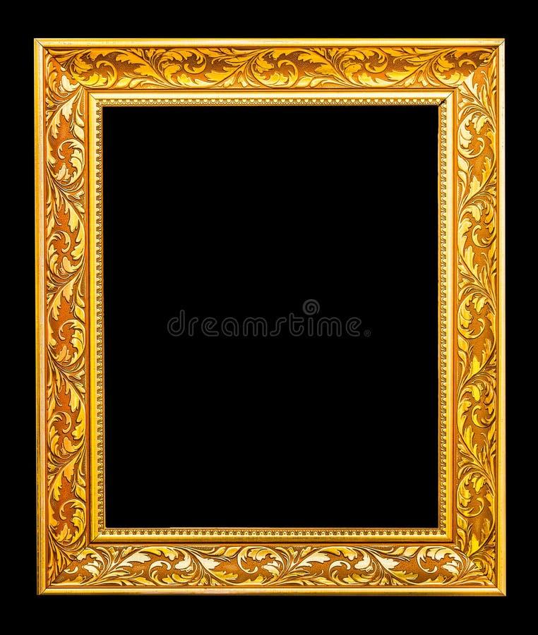 O quadro antigo do ouro fotografia de stock