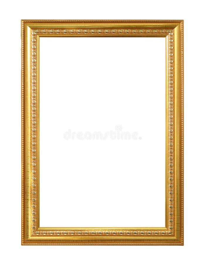 O quadro antigo do ouro no fundo branco fotografia de stock royalty free