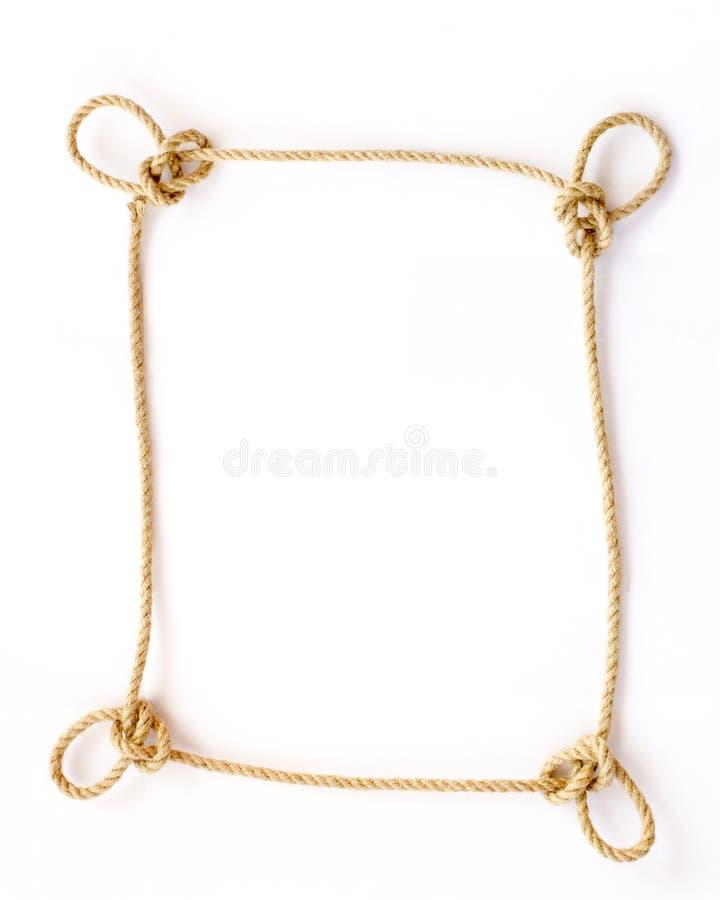 O quadro da corda com laços do dragão foto de stock