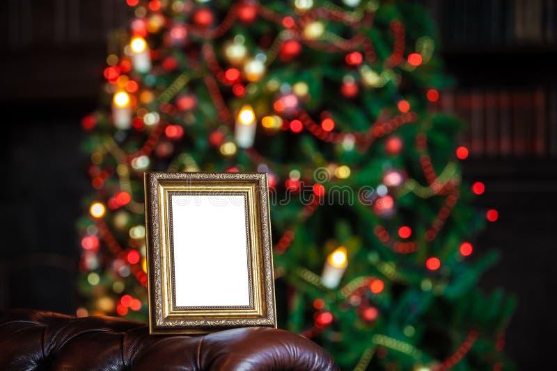 Download O Quadro Da Foto No Natal Decorou O Fundo Foto de Stock - Imagem de casa, clássico: 80101386