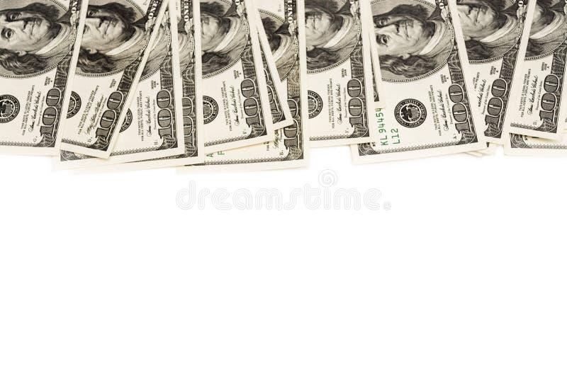 O quadro de cem dólares é próximo com um lugar para o texto foto de stock royalty free
