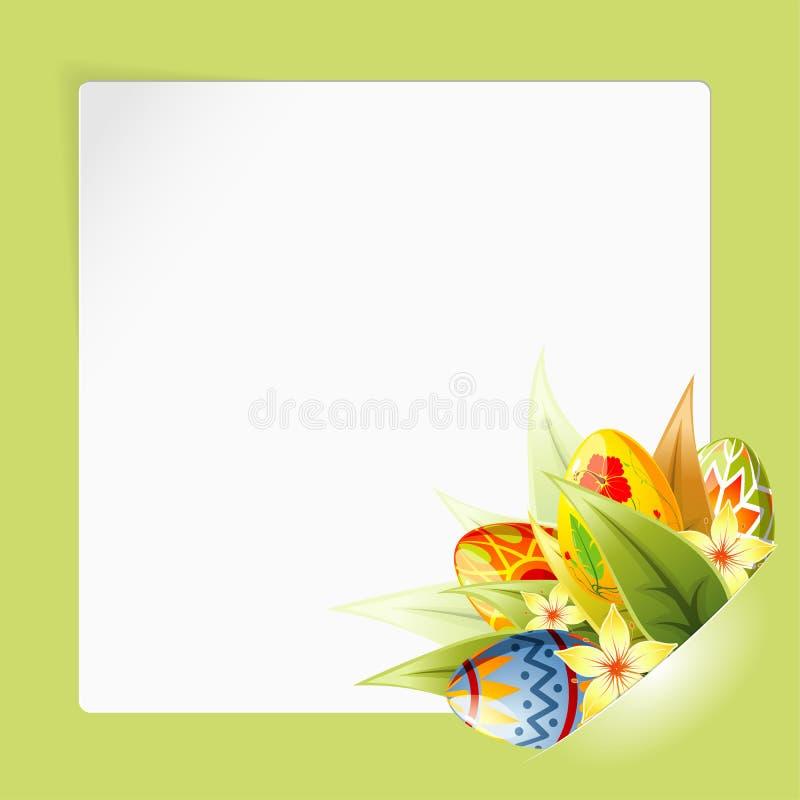 O quadro de Easter com papel da folha montou no bolso ilustração royalty free