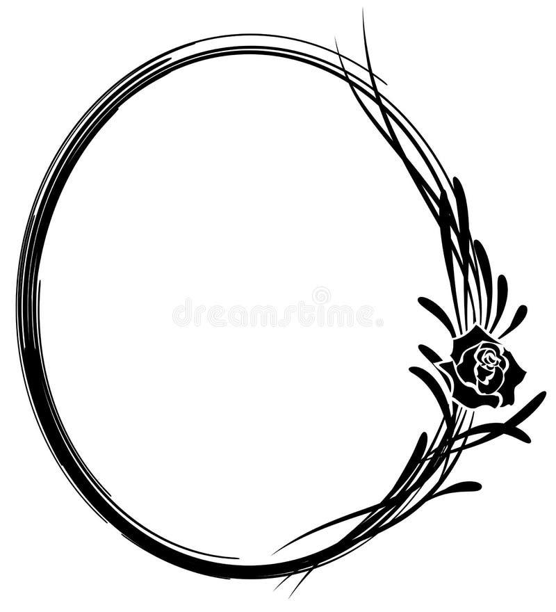 O quadro com as flores de aumentou ilustração stock