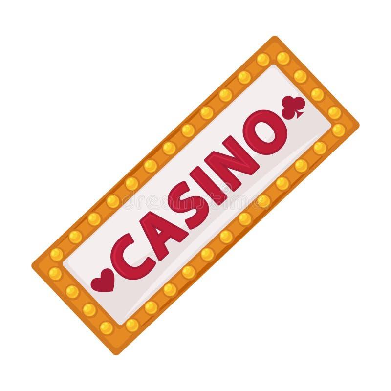 O quadro indicador do casino com lote de lâmpadas pequenas isolou a ilustração ilustração stock