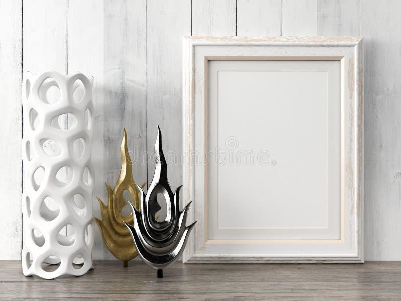 O quadro moderno vazio do estilo, 3D rende imagens de stock royalty free