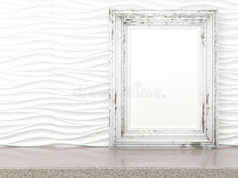 O quadro moderno vazio do estilo, 3D rende ilustração stock