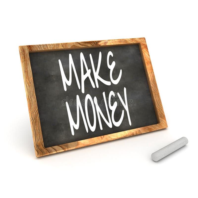 O quadro-negro faz o dinheiro ilustração stock