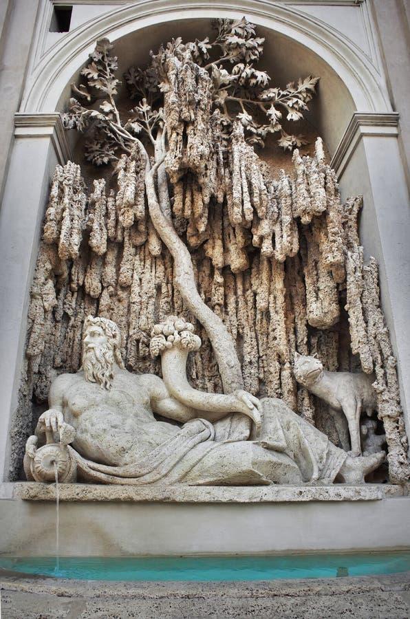 O Quattro Fontane (as quatro fontes) - Roma, Itália imagens de stock royalty free