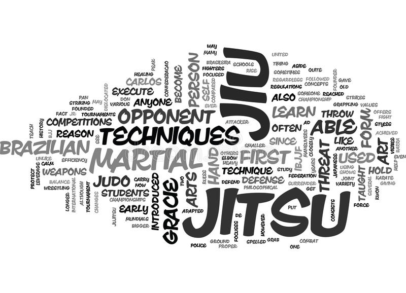 O que é nuvem da palavra de Jiu Jitsu ilustração do vetor
