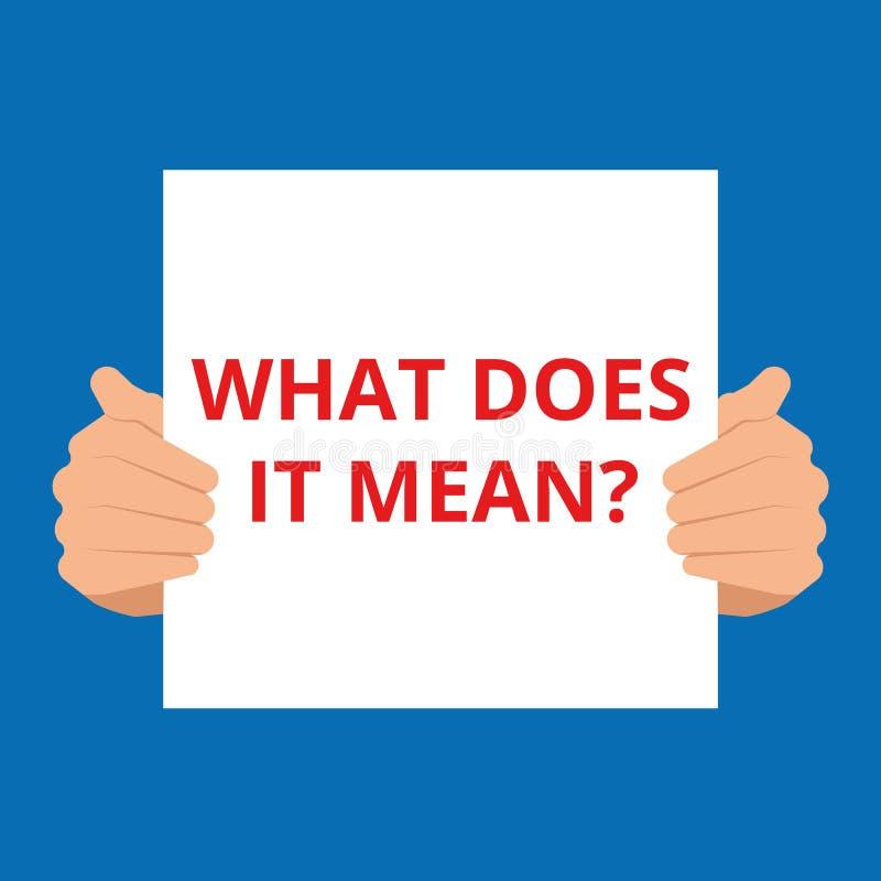 O que ele significa a cópia do estêncil da pergunta na parede de tijolo branca do grunge ilustração do vetor