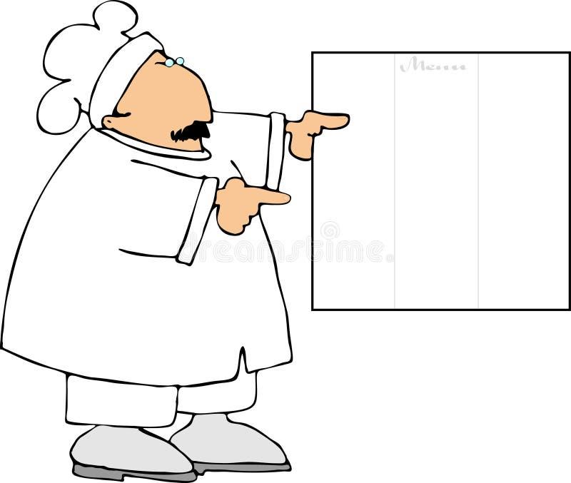 O que está no menu ilustração stock