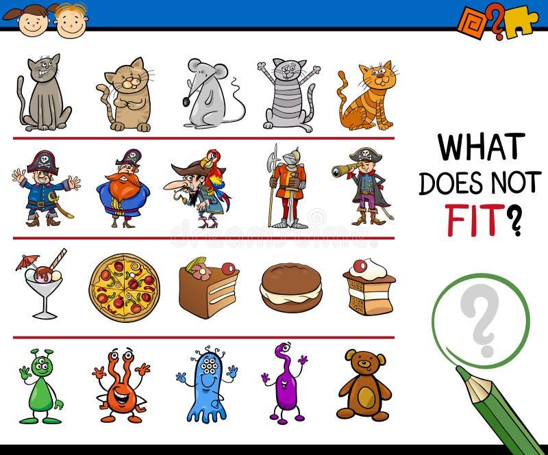 O que não cabe desenhos animados do jogo ilustração royalty free
