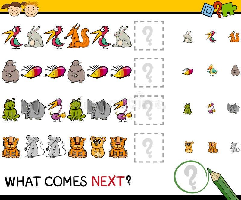 O que vem desenhos animados seguintes do jogo ilustração do vetor