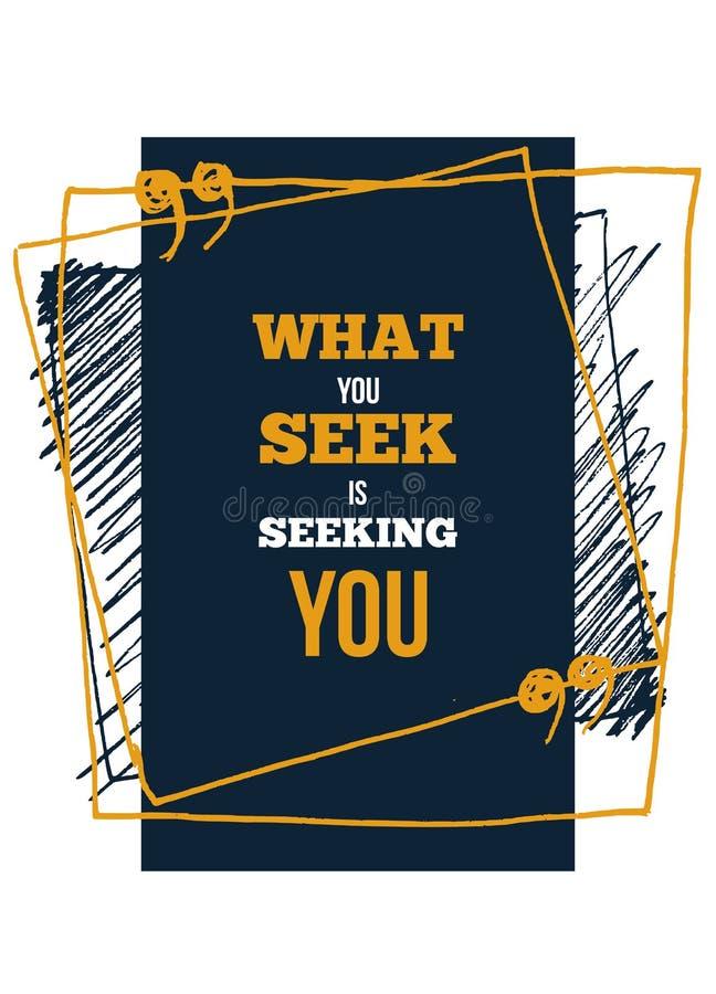 O que voc? procura Inspire e cita??es inspiradores Imprima para o cartaz inspirado, t-shirt, saco, copos, cart?o, inseto, etiquet ilustração royalty free