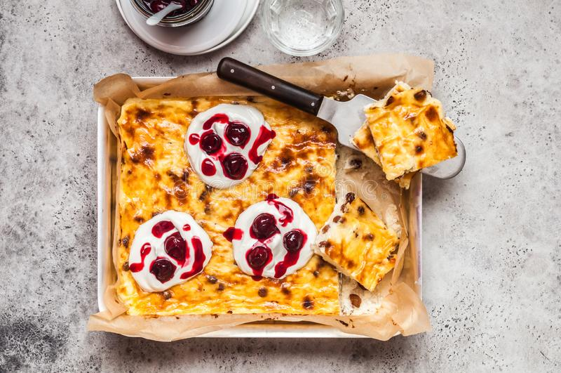 O queijo doce coze imagens de stock