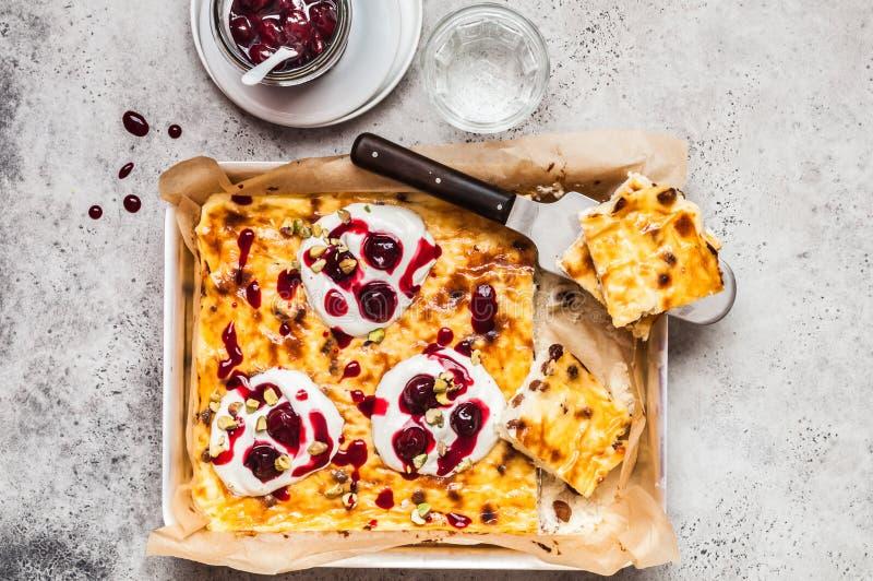 O queijo doce coze imagem de stock royalty free