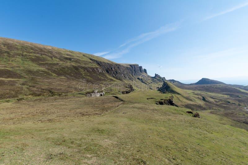 O Quiraing na ilha de Skye, Escócia imagens de stock royalty free