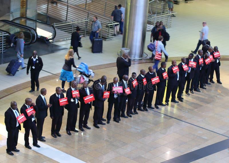 O r Aeropuerto internacional Johannesburgo Suráfrica de Tambo fotografía de archivo libre de regalías