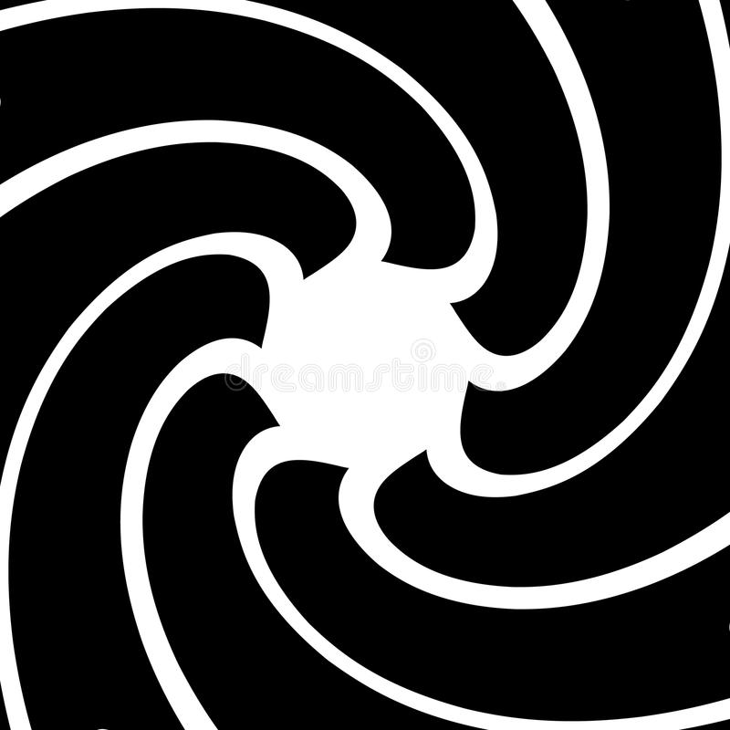 O radial circunda o fundo abstrato Espiral, pancadinha geométrica do redemoinho ilustração royalty free